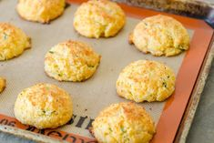 If making biscuits is intimidating to you, these Cheddar Chive Drop Biscuits are your answer! They're easier to make than rolled and cut biscuits, and the cheddar cheese adds moisture and cheesy goodness. Cheddar Chive Biscuit Recipe, Cheddar Cheese, Drop Biscuits, Making Biscuits, Cheese Biscuits, Fromage Cheese, Great Recipes, Favorite Recipes, Strawberry Rhubarb Crumble