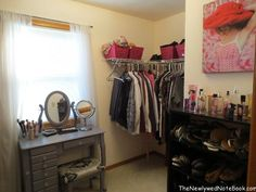 "how to turn a small bedroom into a closet or ""dressing room"""