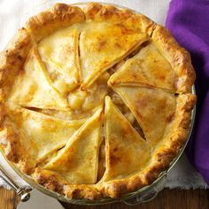 Browned Butter Apple Pie with Cheddar Crust Recipe -How do you make good old-fashioned apple pie even better? Enhance the crust with shredded cheddar cheese and stir browned butter into the filling. Wonderful! —Kathryn Conrad, Milwaukee, Wisconsin