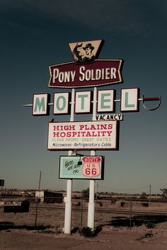 Pony Soldier Motel, Route 66 - Tucumcari, New Mexico ~ motel itself is gone, but the sign remains