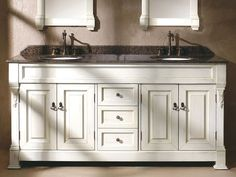 "Gorgeous Beach Cottage Look 60"" Double Sink Bathroom Vanity Classy 72 Inch Bathroom Vanity Double Sink Inspiration"
