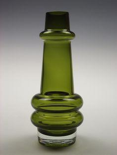 Riihimaki olive green glass vase designed by Tamara Aladin by art-of-glass, via Flickr