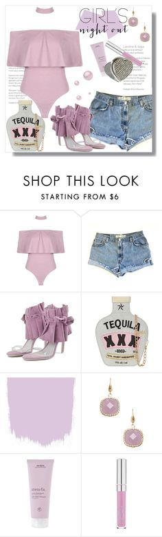 """""""Girls Night Out: Summer Edition(Lavender)"""" by queenvirgo ❤ liked on Polyvore featuring Levi's, Jeffrey Campbell, Skinnydip, Rivka Friedman, Aveda and girlsnightout"""