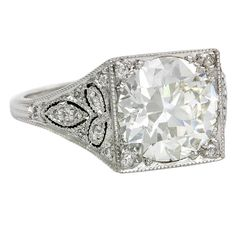 An Edwardian Diamond RIng | 1stdibs.com