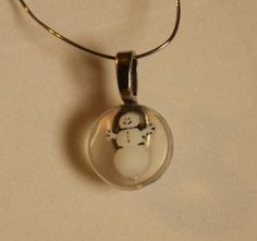 Petite Snowman in Resin pendant  Holiday Christmas by GreyGyrl, $6.00