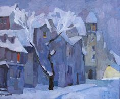 Last Snow of the Season by Larisa Aukon Oil ~ 20 x 24