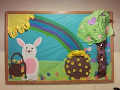 Valentines. St. Patric. And Easter bulletin board.