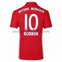 Billige Fodboldtrøjer Bayern Munich 2016-17 Robben 10 Kortærmet Hjemmebanetrøje