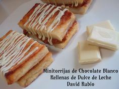 Chocolate Blanco, Relleno, Cheese, Breakfast, Mini, Food, Homemade Recipe, Sweets, Deserts