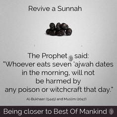 Ajwa Dates Revive a Sunnah Prophet Muhammad Quotes, Imam Ali Quotes, Muslim Quotes, Quran Quotes, Religious Quotes, Beautiful Islamic Quotes, Islamic Inspirational Quotes, Islamic Qoutes, Sunnah Prayers