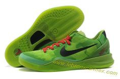 super popular 0e67f a96b4 Nike Zoom Kobe 8 (VIII) Christmas Green Black Red Basketball Shoes Style  429659 701 Hot