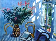 """Interior with Flowers"", by Marc Chagall 1919"