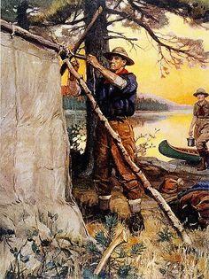 Phillip R Goodwin The Great Outdoors Walnut Framed Giclee Canvas Art M 25x31 | eBay