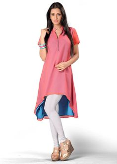 Berrito Stylish Kurti upcoming For Teenage Girls.Delicately planned with zari embroidered internet yoke, it is a delightful piece for all avant-garde divas.