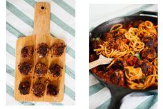 Klein&Rund: Spaghetti Polpette aka. vegane Fleischbällchen in Paprikasoße   Zucker&Jagdwurst
