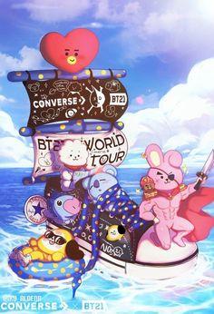 Sail the seven seas with on a. Bts Memes, Bts Citations, K Wallpaper, Bts Backgrounds, Bts Drawings, Bts Chibi, I Love Bts, Kpop Fanart, Album Bts