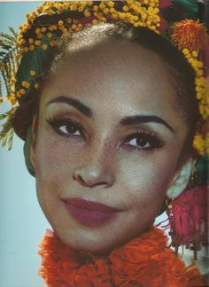 """"""" This is a good photo of Sade. Her freckles are prominent. I love her freckles! Classic Beauty, Timeless Beauty, Iconic Beauty, Black Girl Magic, Black Girls, Beautiful Black Women, Beautiful People, Perfect People, Pretty People"""