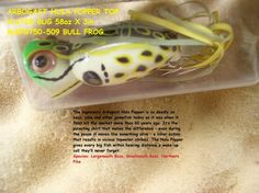 Heddon Baby TORPEDO 3//8oz Topwater X0361NF in Natural Leopard Frog Bass//Pike