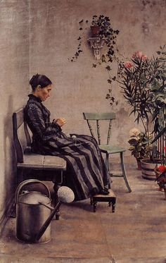 The Athenaeum - The Knitter (Georges Lemmen - 1883)