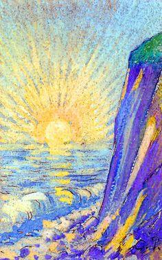 Camille Pissarro - Sunrise on the sea Plus