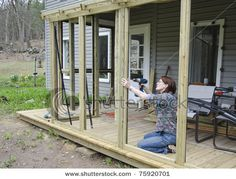 simple screened porch