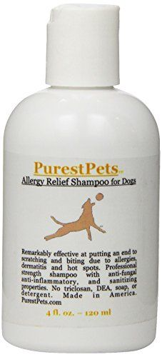 PurestPets Allergy Relief Medicated Dog Shampoo 4Ounce *** Read more reviews of the product by visiting the link on the image. (Note:Amazon affiliate link) #DogGrooming