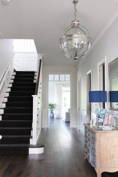 Where To Use Feature Lighting Melbourne, Entry Lighting, Hallway Designs, French Country House, Interior Design Inspiration, Style Inspiration, My Dream Home, Home Remodeling, The Hamptons