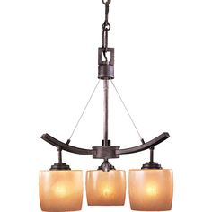 This would be perfect for over the garden tub.    Raiden Three Light Chandelier Minka Lavery Glass Shade Chandeliers Ceiling Lighting. $265.90