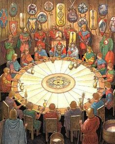 King Arthur and the legend of the Knights of the Round Table in the Realm of Camelot