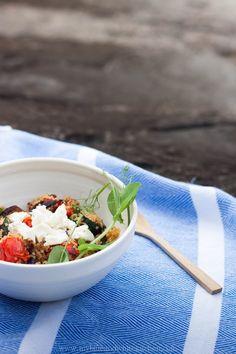 Quinoa Salad with Grilled Summer Vegetables & Harissa | My Blue&White Kitchen