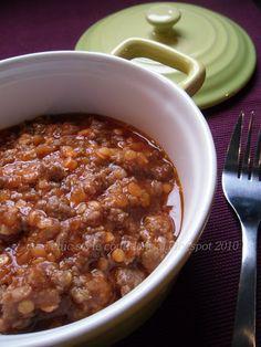 Ragù a cottura lenta con lenticchie rosse