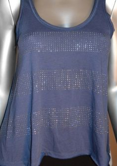periwinkle sequined tank
