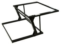 Selby Furniture Hardware XPE287 - Selby Spring-Assist, Lift-Top Table Mechanism - EACH (Black Epoxy) - The Hardware Hut