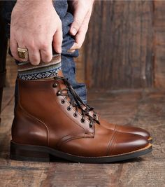 Men Handmade Cap Toe Leather Ankle High Lace Up Boots,Leather brown Color boot sold by LeathersPlanet. Shop more products from LeathersPlanet on Storenvy, the home of independent small businesses all over the world. Dress With Boots, Lace Up Boots, Leather Boots, Men's Boots, Ankle Boots, Brown Dress Boots, Duck Boots, Cowboy Shoes, Custom Design Shoes
