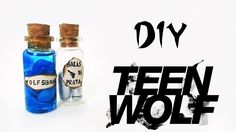 DIY: Bottle Charms TEEN WOLF - Balas de Prata e Wolfsbane / Acônito