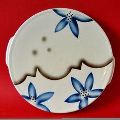 Sörnewitz AG Meissen Tortenplatte, Keramik mit Spritzdekor, 30er Jahre • EUR…