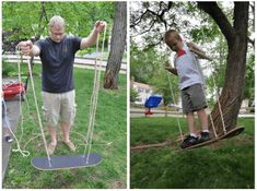 only takes about 20 minutes to make this skateboard swing. It only takes about 20 minutes to make this skateboard swing.