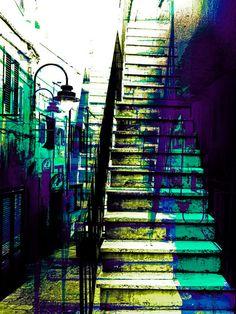 Kauf 'Italienische Stufen' von Gabi Hampe auf Leinwand, Alu-Dibond, (gerahmten) Postern und Xpozer.
