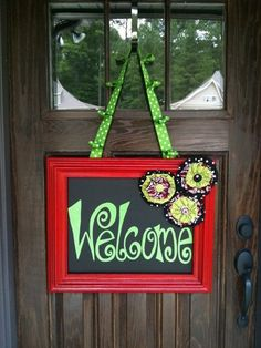 Wouldn't this be cute done in chalk board paint. So u could write special messages to ur guests.