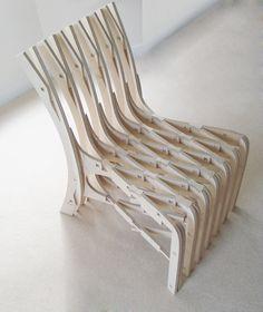 CNC birch chair www.fabsie.com