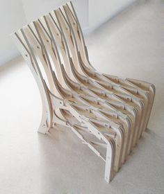 CNC birch chair www.fabsie.com