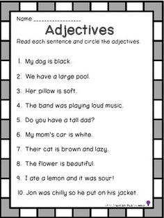 Adjectives by First Grade Light Bulb Moments | Teachers Pay Teachers
