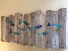 A driftwood backing to display our Jo Downes fish that Daniel and Becci gave us for our 30th Wedding Anniversary