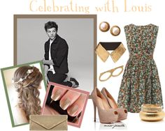 """""""Celebrating with Louis"""" by miss-janelle ❤ liked on Polyvore"""