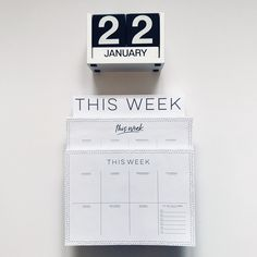 start your week off ORGANIZED with our Weekly Planner Notepads! These are awesome because, unlike a traditional dayplanner, you can tear off each crazy day and toss it away. (There's something so satisfying about that, just trust us. Custom Journals, Crazy Day, Day Planners, Personalized Stationery, Weekly Planner, Monday Motivation, Trust, Cards Against Humanity, Notes