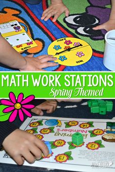 Here are a few of my favorite kindergarten math center ideas and things about them, with a free file! Great for kindergarten and primary grades.  FREE file included! via @deedee_wills