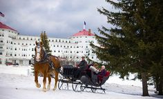 Omni Mount Washington Resort Bretton Woods, New Hampshire, USA. I would love to stay here when there is snow, even if it is cold.