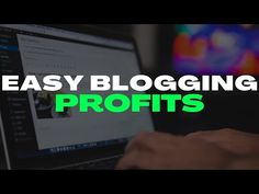 Easy Blogging Profits - Earn Money Blogging - How To Make Money Blogging U-Biz Daily Official Review - YouTube