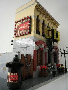 Lego Words, Big Lego, Lego Modular, Cool Lego Creations, Lego Architecture, Lego Projects, Lego Moc, Lego Building, City Buildings