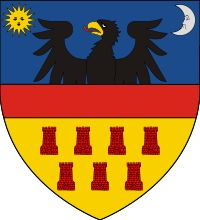 Historical coat of arms of Transylvania - Wikipedia Dracula, Romania People, Romania Map, Vlad The Impaler, Carpathian Mountains, Family Crest, Crests, My Heritage, Winter Travel